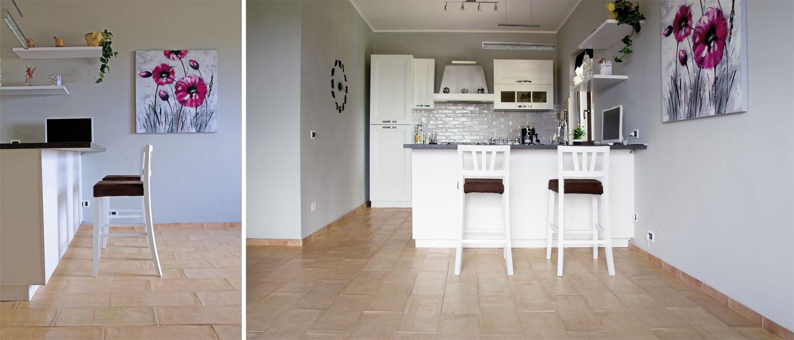 Cucina in cotto dai rivestimenti ai pavimenti ecco - Pavimento per cucina ...